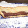 Torta di crema bicolore